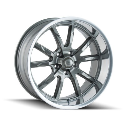Ridler 650 Grey wheel (20X10, 5x114.3, 72.62, 38 offset)