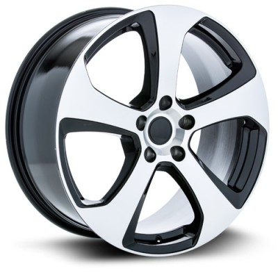 RTX Wheels MK7 Machine Black wheel (18X8, 5x112, 57.1, 45 offset)