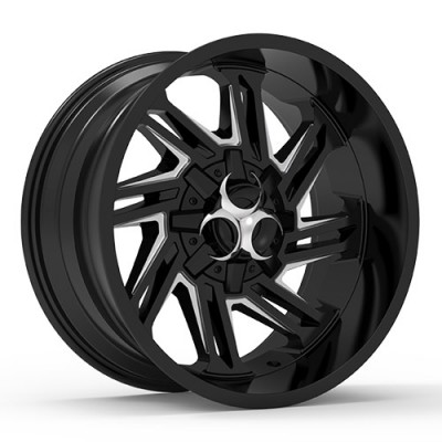 TOXIC RAZR Black Machine Lip wheel (20X10, 5x114.3/127, 78.1, -25 offset)