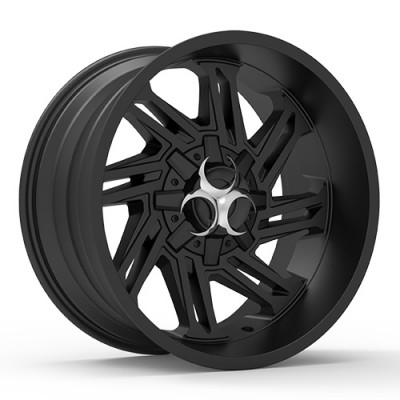 TOXIC RAZR Satin Black wheel (20X10, 5x114.3/127, 78.1, -25 offset)