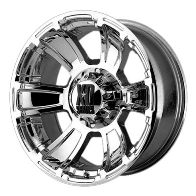 KMC Wheels Revolver Chrome wheel (17X9, 6x139.7, 106.25, -12 offset)