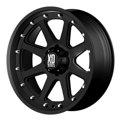 KMC Wheels Addict Matte Black wheel (17X9, 6x114.3, 72.6, 18 offset)