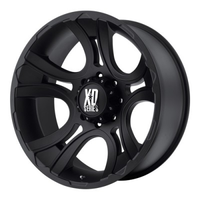 KMC Wheels Crank Matte Black wheel (20X9, 5x127, 78.3, 0 offset)