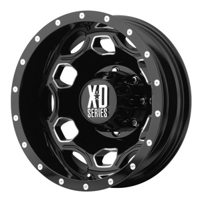 KMC Wheels Batallion Gloss Black Machine wheel (22X8.25, 8x165.1, 117, -95 offset)