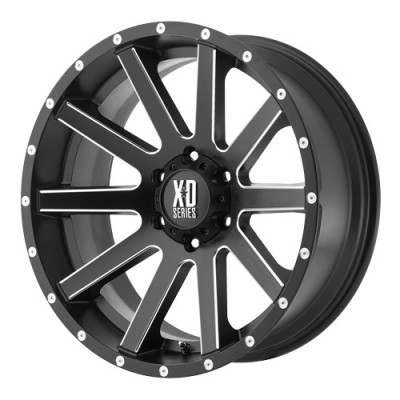 KMC Wheels Heist Machine Black wheel (17X8, 5x110, 65.1, 35 offset)