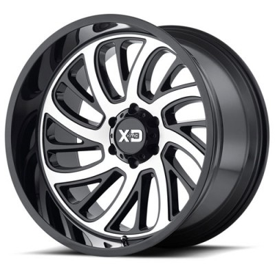 XD Series By Kmc Wheels XD826 Surge Gloss Black Machine wheel (22X12, 8x165.1, 125.5, 54.22 offset)