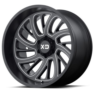 XD Series By Kmc Wheels XD826 Surge Machine Black wheel (22X12, 6x139.7, 106.25, 54.11 offset)