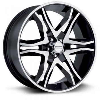 American Racing AR893, Noir Machine/Machine Black, 17X8, 5x139.7 ( offset/deport 25), 108