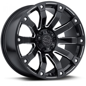 Black Rhino Selkirk, Noir Machine/Machine Black, 17X9, 5x139.7 ( offset/deport 0), 78.1