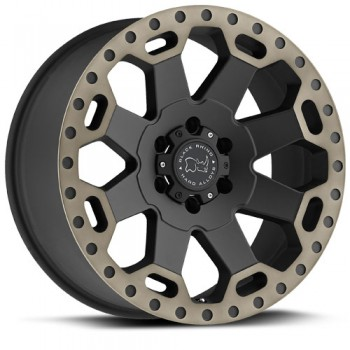 Black Rhino Warlord, Noir Machine/Machine Black, 17X9, 8x170 ( offset/deport 12), 125.1