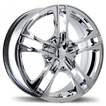 Fastwheels F134B Reverb , 17x7.0 , 5x108/114.3 , (offset/deport 42 ) , 73 , Chrome/Chrome