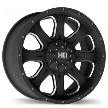 Fastwheels C4 Matte Black with Chamfer Cut/Noir mat avec coupe chanfreiner, 20x9.0, 6x135/139.7 (offset/deport 25), 106