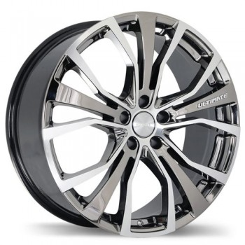 Fastwheels F192 Ultimate , 20x8.5 , 5x120 , (offset/deport 45 ) , 72.6 , Vapour Chrome With Gloss Machine Face/Chrome vaporise avec facade machinee lustree
