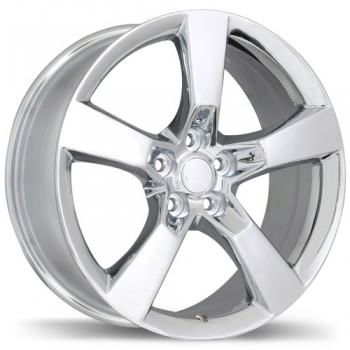 Replika R129A Chrome/Chrome, 20X9.0, 5x120 , (offset/deport 40 )Chevrolet