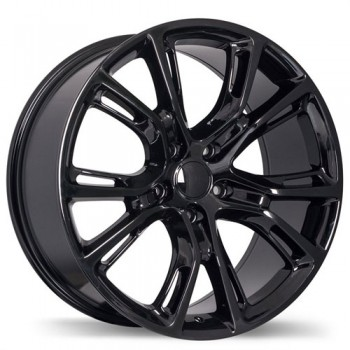 Replika R148A Gloss Black/Noir lustré , 20X9.0, 5x127 , (offset/deport 34 )Jeep