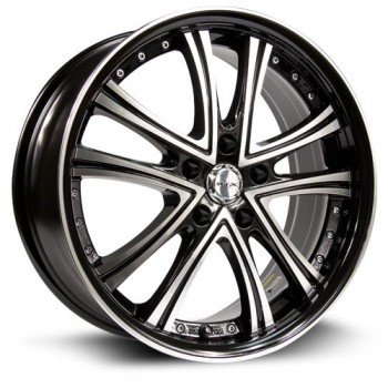 RTX Wheels Allure, Noir Machine/Machine Black, 17X7, 5x114.3 ( offset/deport 45), 73.1