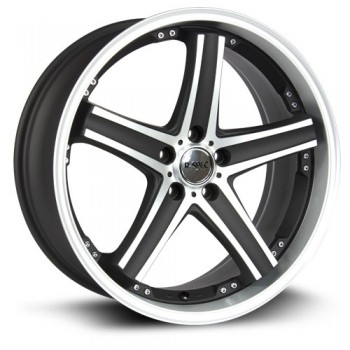 RTX Wheels Alpha, Noir Machine/Machine Black, 18X8, 5x114.3 ( offset/deport 38), 73.1