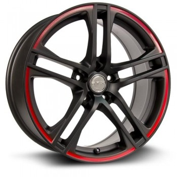RTX Wheels Apex, Noir Contour Rouge/Black Red Stripe, 18X8, 5x114.3 ( offset/deport 40), 73.1