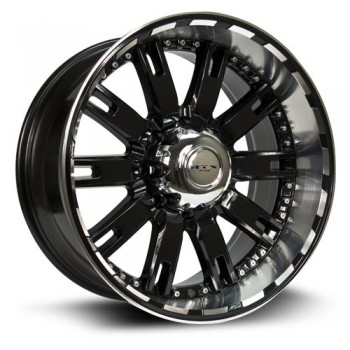 RTX Wheels Brute, Noir Machine/Machine Black, 20X10, 6x139.7 ( offset/deport -19), 106.1