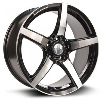 RTX Wheels Baden, Noir Machine/Machine Black, 18X8, 5x112 ( offset/deport 45), 66