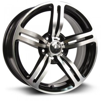 RTX Wheels Berlin, Noir Machine/Machine Black, 17X8, 5x120 ( offset/deport 35), 72.6
