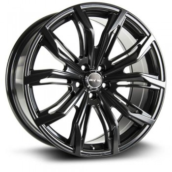 RTX Wheels Black Widow, Noir Satine/Satin Black, 18X8, 5x112 ( offset/deport 42), 66.6