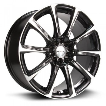 RTX Wheels Blade, Noir Machine/Machine Black, 14X6, 4x100/114.3 ( offset/deport 40), 73.1