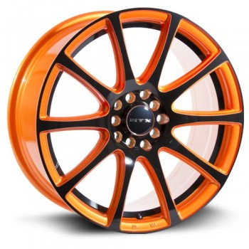 RTX Wheels Blaze, Orange et noir/Orange and Black, 17X7.5, 5x100/114.3 ( offset/deport 42), 73.1