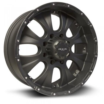 RTX Wheels Crawler, Noir mat/Matte Black, 17X8, 5x127 ( offset/deport 20), 71.5