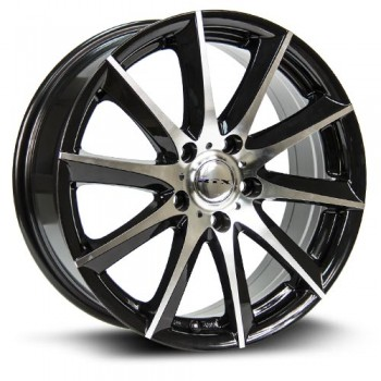 RTX Wheels Dynamo, Noir Machine/Machine Black, 15X6.5, 5x114.3 ( offset/deport 38), 73.1