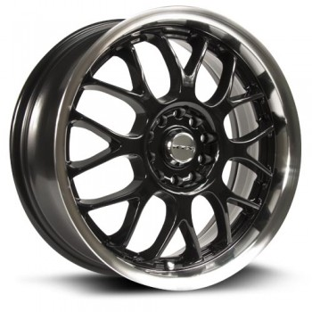 RTX Wheels Euro, Noir Machine/Machine Black, 18X7.5, 5x112/120 ( offset/deport 42), 73.1