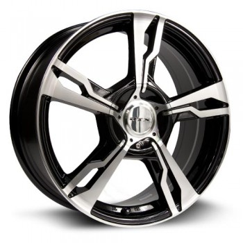RTX Wheels Fighter, Noir Machine/Machine Black, 17X7, 5x100/114.3 ( offset/deport 45), 73.1