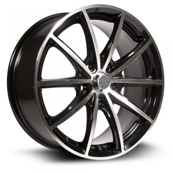RTX Wheels Forza, Noir Machine/Machine Black, 15X6.5, 5x114.3 ( offset/deport 452), 73