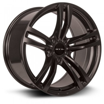 RTX Wheels Graz, Noir/Black, 18X8, 5x120 ( offset/deport 35), 74.1 BMW