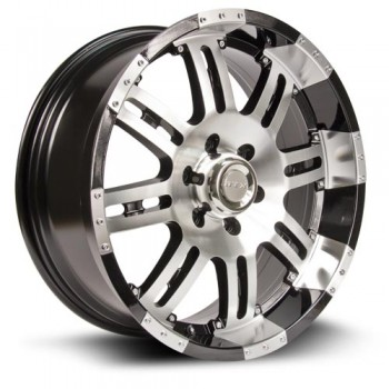 RTX Wheels Loki, Noir Machine/Machine Black, 18X8, 6x135 ( offset/deport 30), 87
