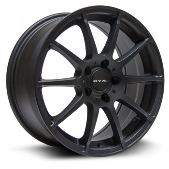 RTX Wheels Munich, Noir Mat Machine/Matte Black Machine, 18X8, 5x112 ( offset/deport 45), 66.6 Mercedes-Benz