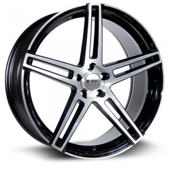 RTX Wheels Mystique, Noir Machine/Machine Black, 18X8, 5x120 ( offset/deport 38), 74.1