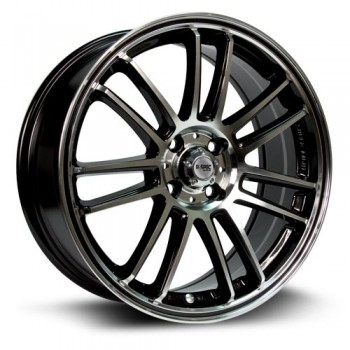RTX Wheels Radial, Noir Machine/Machine Black, 17X7, 5x114.3 ( offset/deport 45), 73.1