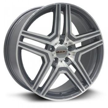 RTX Wheels Rhine, Gris Fonce Machine/Dark Gray Machine, 20X8.5, 5x112 ( offset/deport 45), 66.6 Mercedes-Benz