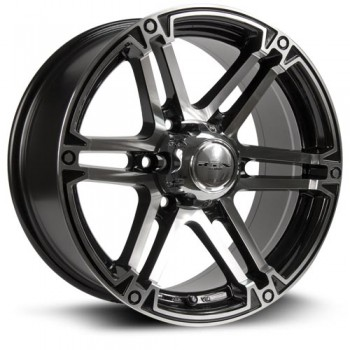RTX Wheels Slate, Noir Machine/Machine Black, 17X8, 6x135 ( offset/deport 25), 87
