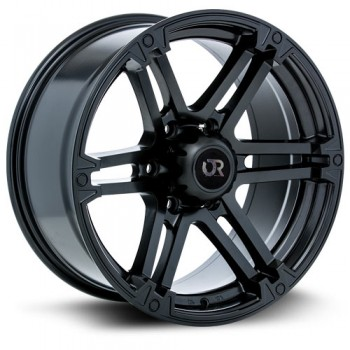 RTX Wheels Slate, Noir Satine/Satin Black, 17X8, 6x120 ( offset/deport 20), 67.1