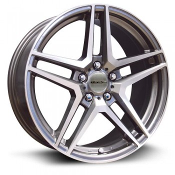 RTX Wheels Stern, Gris GunMetal/Gun Metal, 17X7.5, 5x112 ( offset/deport 43.5), 66.6 Mercedes-Benz