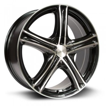 RTX Wheels Stratus, Noir Machine/Machine Black, 14X6, 4x100/114.3 ( offset/deport 38), 73.1