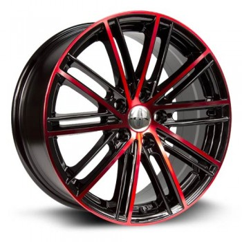 RTX Wheels Strobe 5, Noir Machine/Machine Black, 17X7.5, 5x114.3 ( offset/deport 45), 73.1