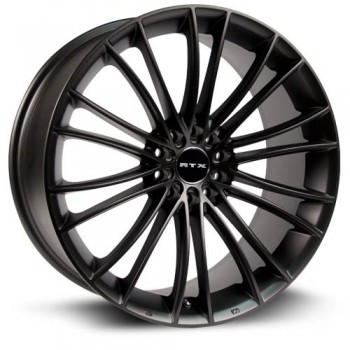 RTX Wheels Turbine, Noir/Black, 17X7.5, 5x120 ( offset/deport 40), 72.6