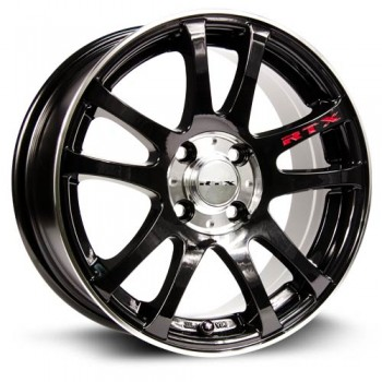 RTX Wheels Twinstar, Noir Machine/Machine Black, 16X7, 4x100 ( offset/deport 38), 73.1