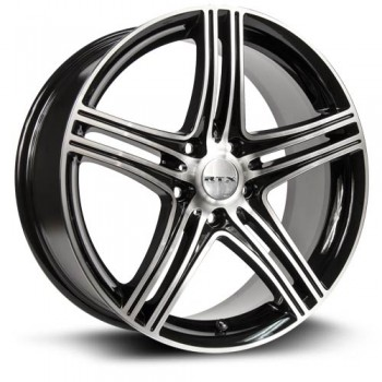 RTX Wheels Zen, Noir Machine/Machine Black, 17X7, 5x114.3 ( offset/deport 40), 73