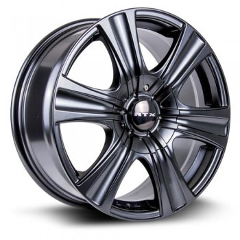RTX Wheels Aspen, Noir Satine/Satin Black, 17X8, 5x114.3/127 ( offset/deport 35), 73.1