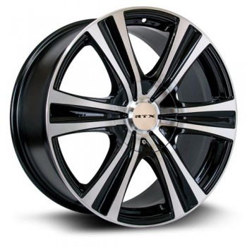RTX Wheels Aspen, Noir Machine/Machine Black, 17X8, 6x120/139.7 ( offset/deport 15), 78.1