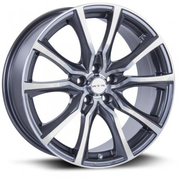 RTX Wheels Contour, Gris Gunmetal Machine/Machine Gunmetal, 17X7.5, 5x114.3 ( offset/deport 40), 73.1